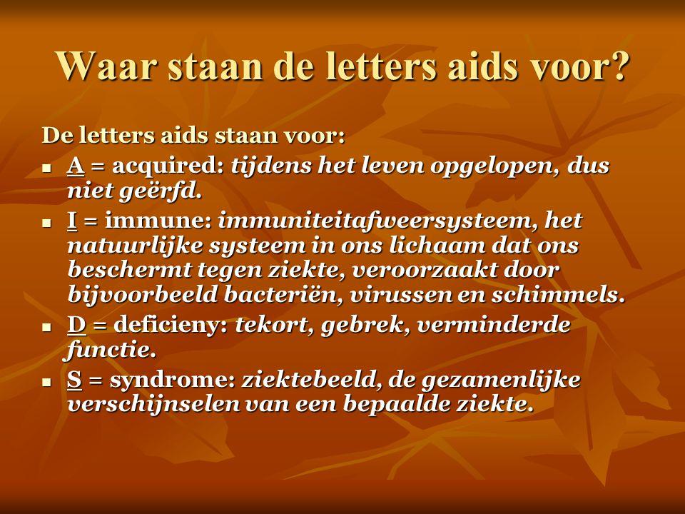 Waar staan de letters aids voor