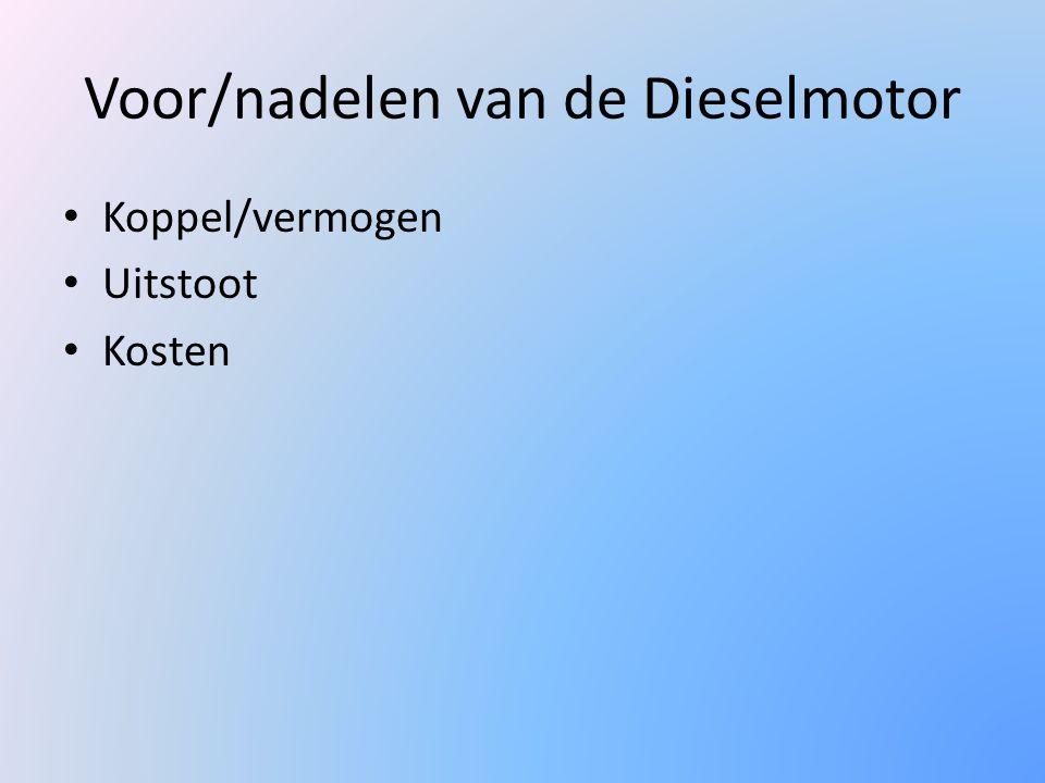 Voor/nadelen van de Dieselmotor