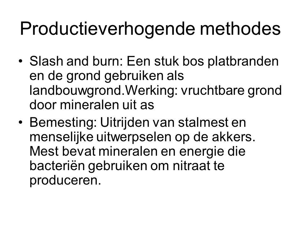Productieverhogende methodes