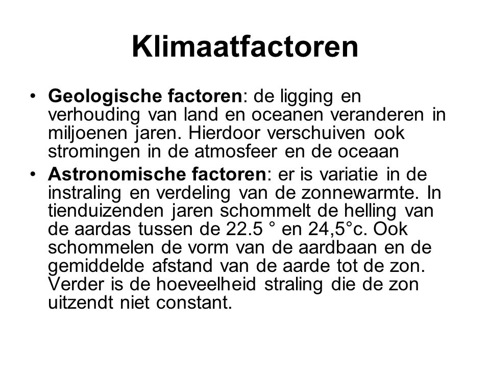 Klimaatfactoren