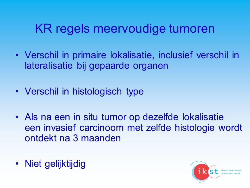 KR regels meervoudige tumoren