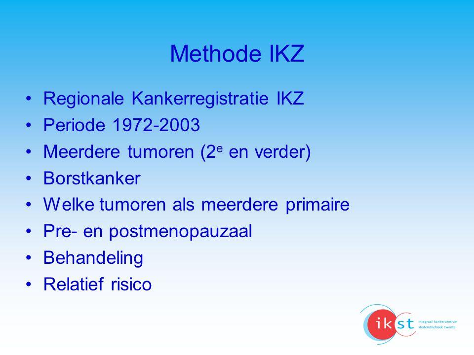 Methode IKZ Regionale Kankerregistratie IKZ Periode 1972-2003