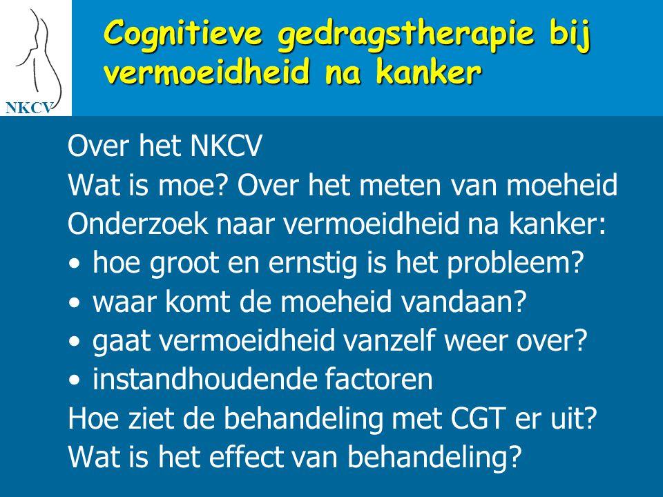Cognitieve gedragstherapie bij vermoeidheid na kanker