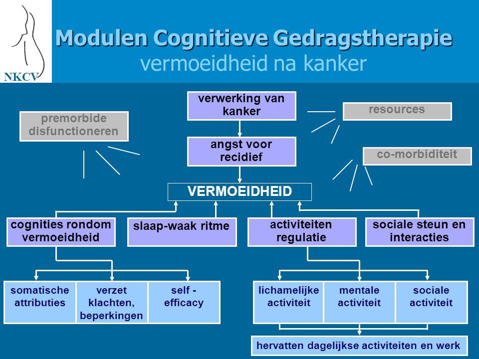 Modulen Cognitieve Gedragstherapie vermoeidheid na kanker