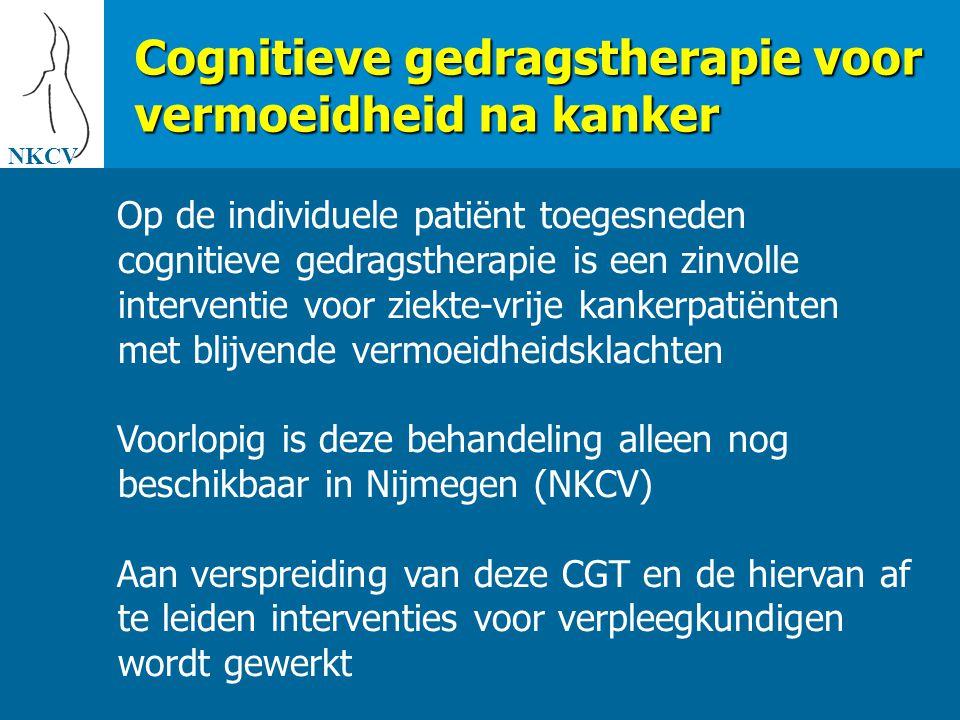 Cognitieve gedragstherapie voor vermoeidheid na kanker