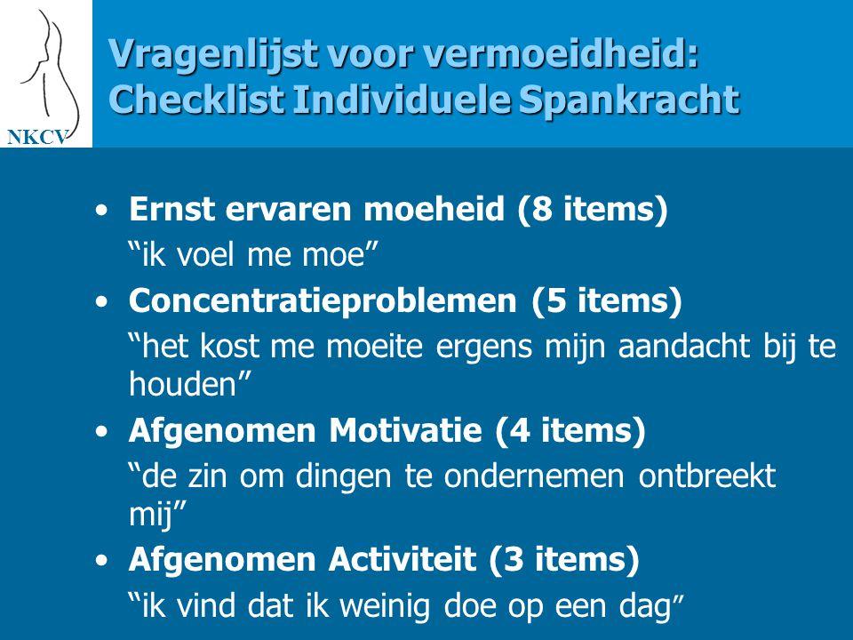Vragenlijst voor vermoeidheid: Checklist Individuele Spankracht