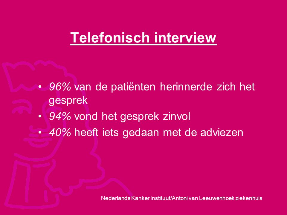 Telefonisch interview