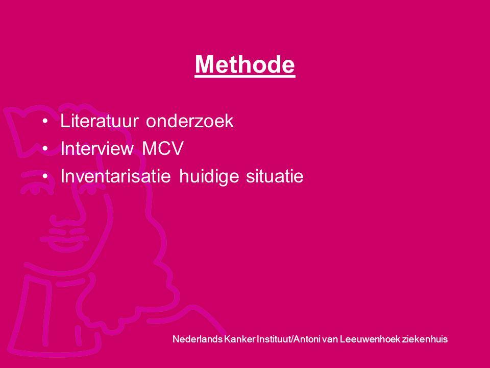 Methode Literatuur onderzoek Interview MCV