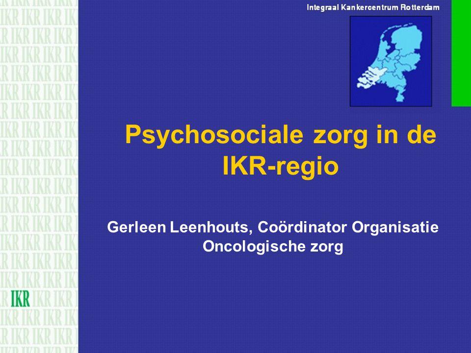 Psychosociale zorg in de IKR-regio