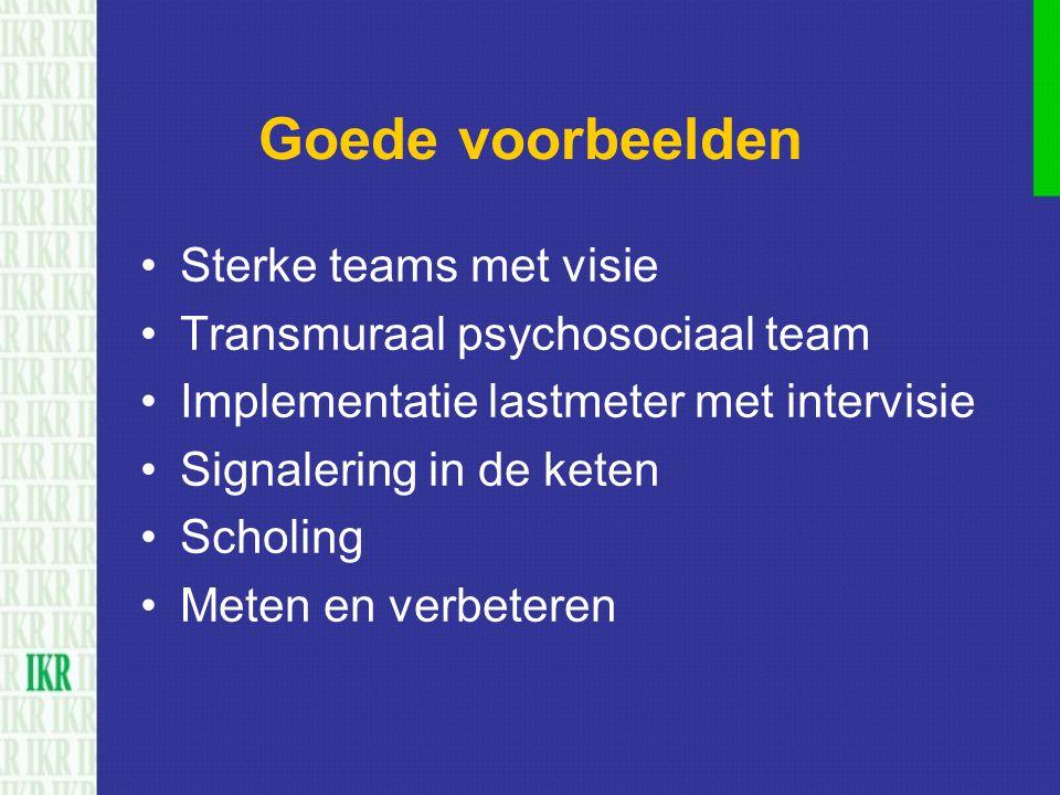 Goede voorbeelden Sterke teams met visie