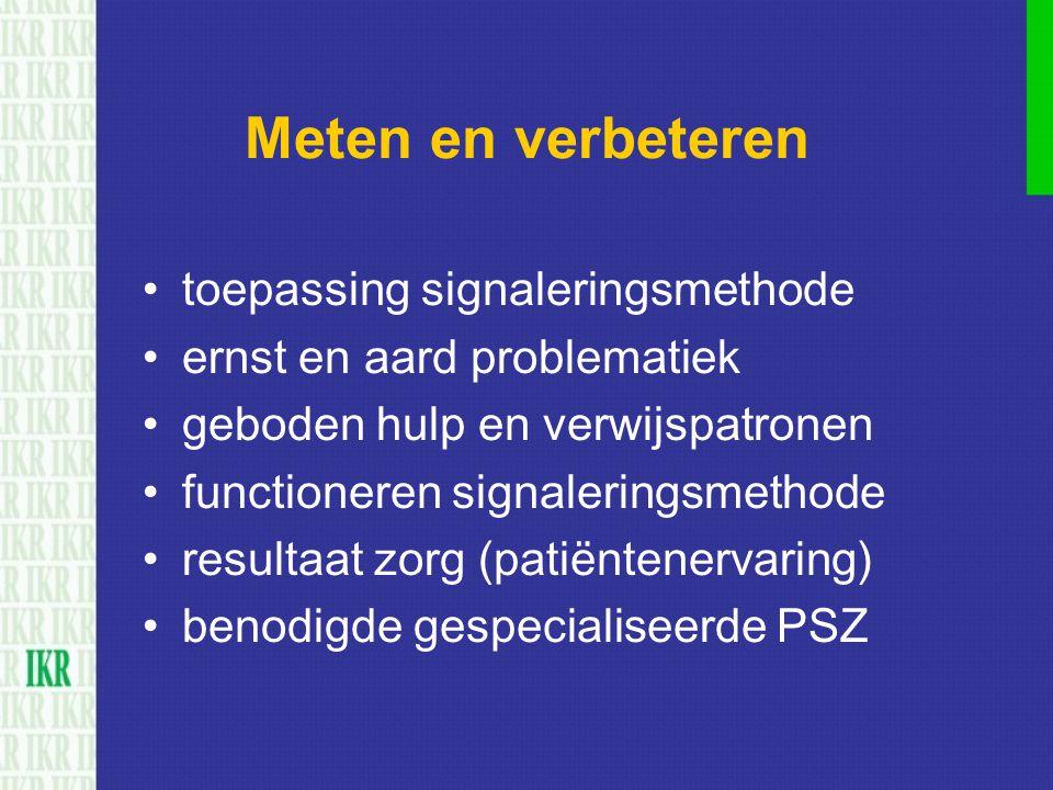 Meten en verbeteren toepassing signaleringsmethode