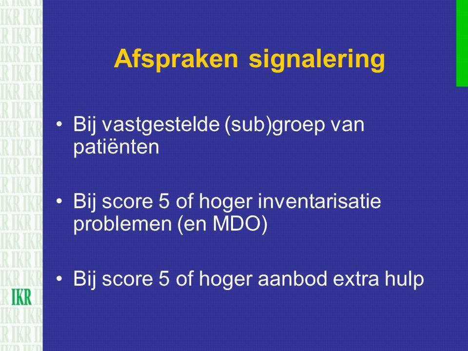 Afspraken signalering