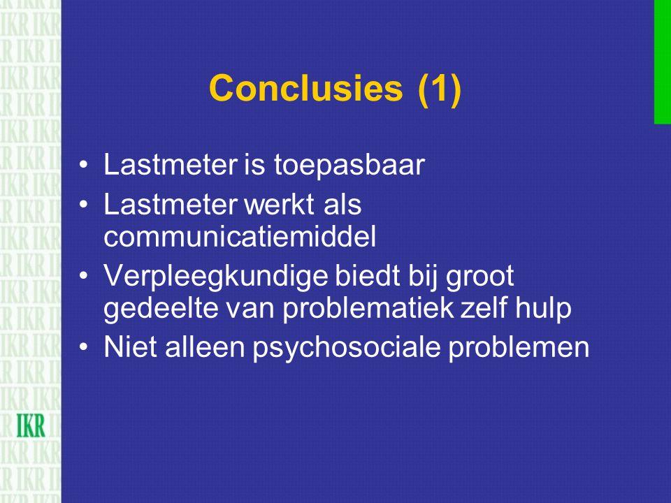 Conclusies (1) Lastmeter is toepasbaar