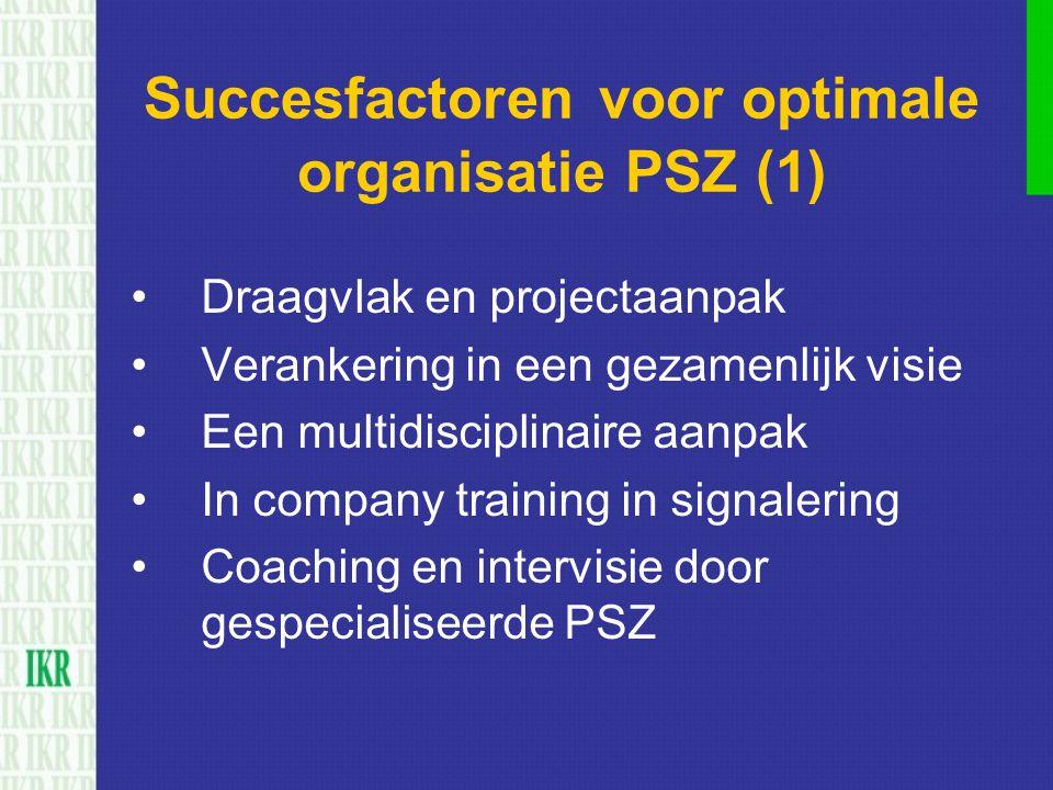 Succesfactoren voor optimale organisatie PSZ (1)