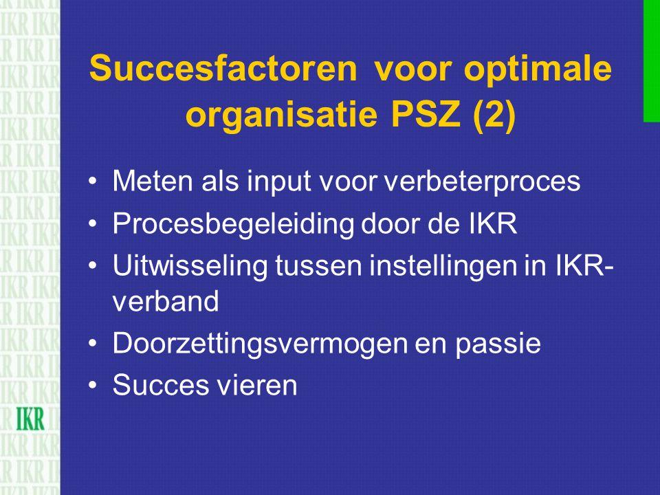 Succesfactoren voor optimale organisatie PSZ (2)