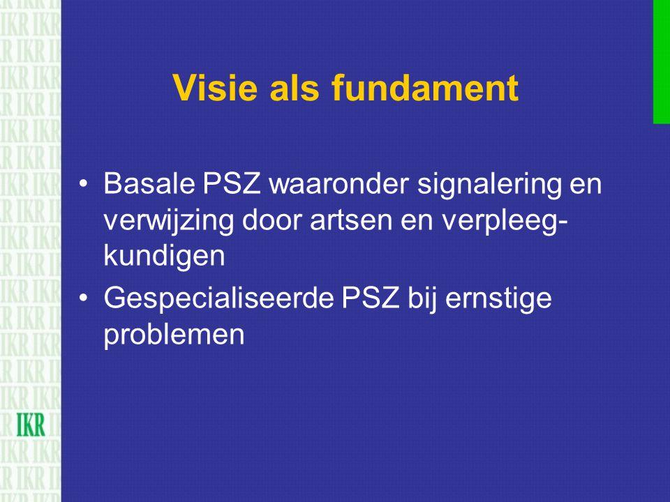 Visie als fundament Basale PSZ waaronder signalering en verwijzing door artsen en verpleeg- kundigen.