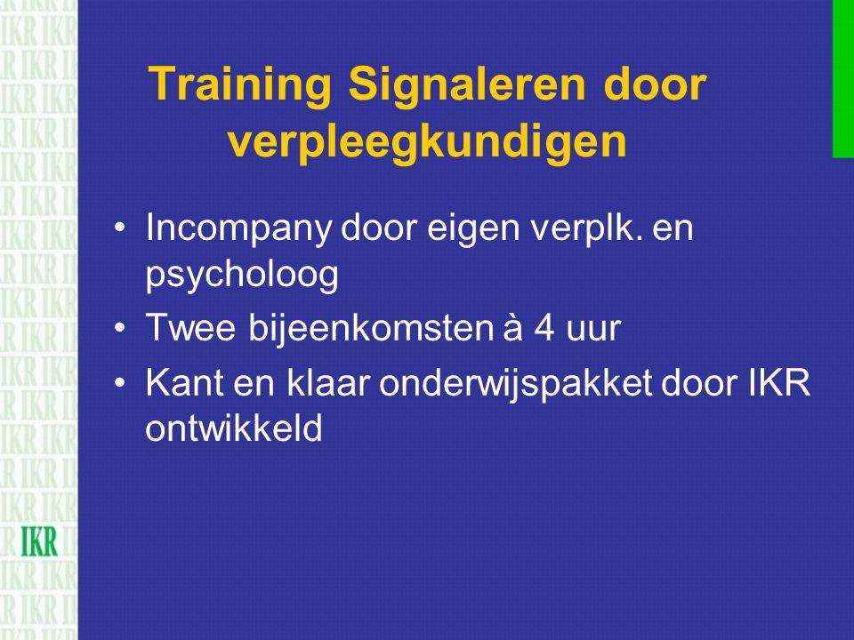 Training Signaleren door verpleegkundigen