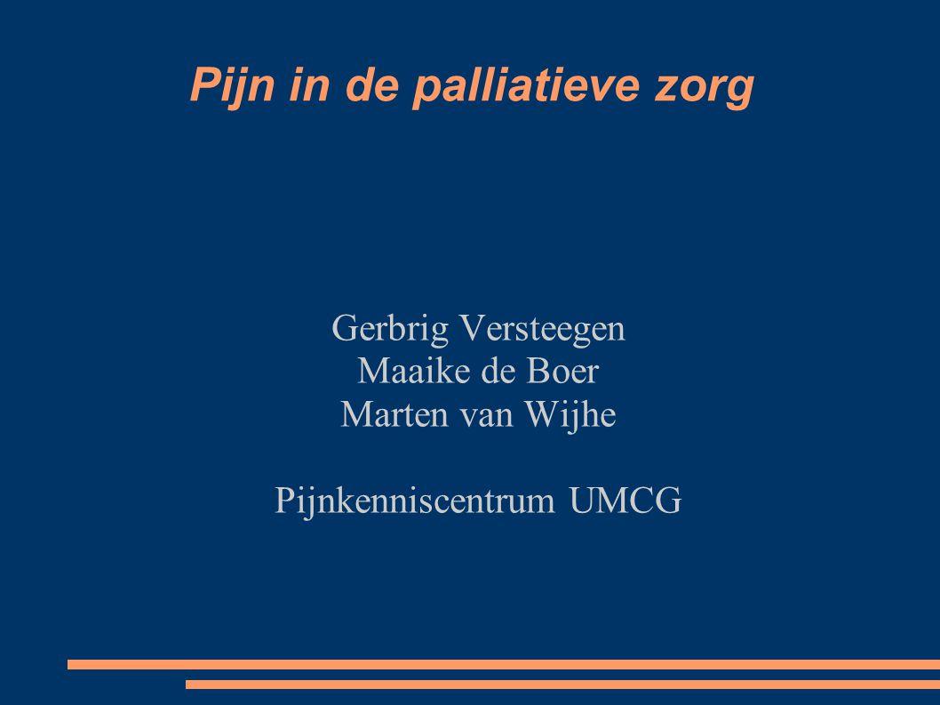 Pijn in de palliatieve zorg