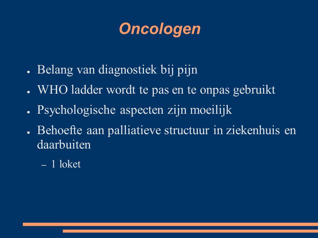 Oncologen Belang van diagnostiek bij pijn
