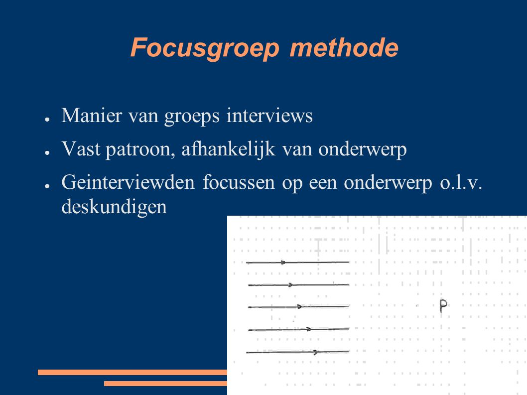 Focusgroep methode Manier van groeps interviews