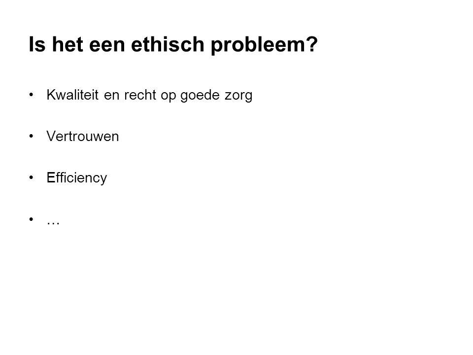 Is het een ethisch probleem