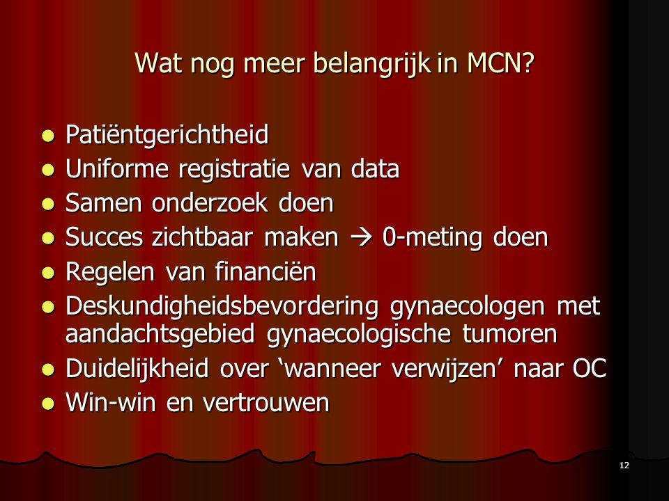 Wat nog meer belangrijk in MCN
