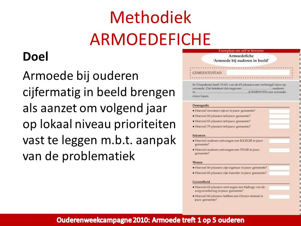 Methodiek ARMOEDEFICHE