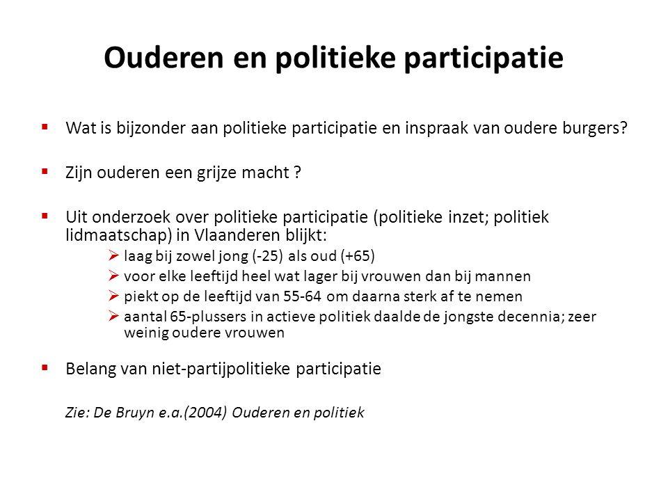 Ouderen en politieke participatie