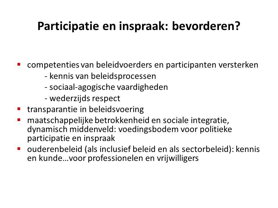 Participatie en inspraak: bevorderen