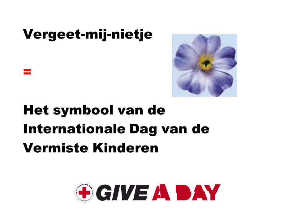 Internationale Dag van de Vermiste Kinderen