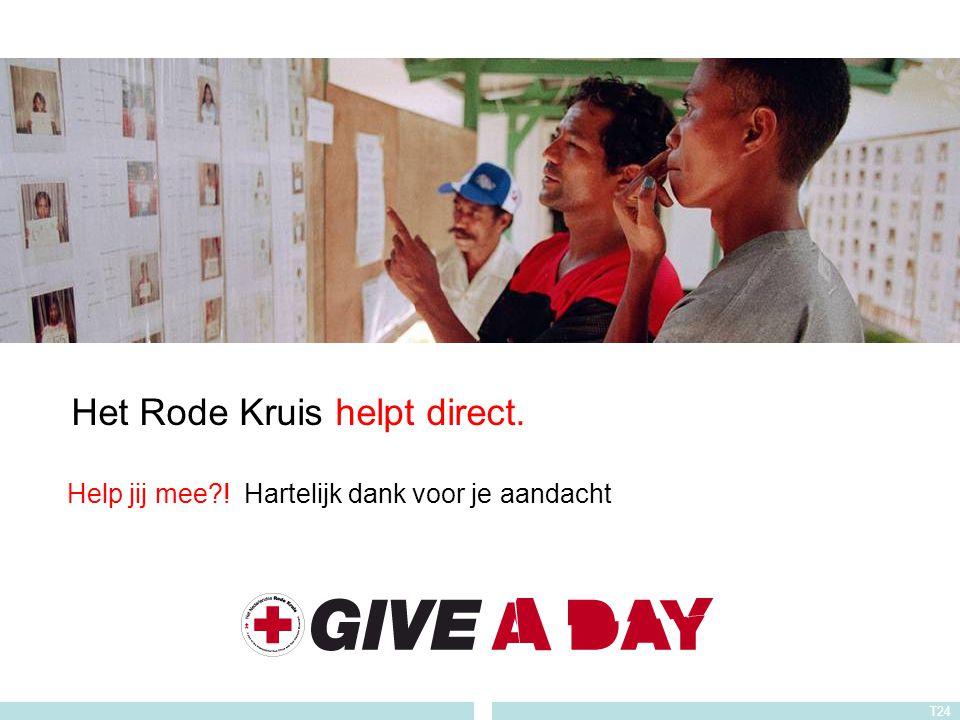 Het Rode Kruis helpt direct.