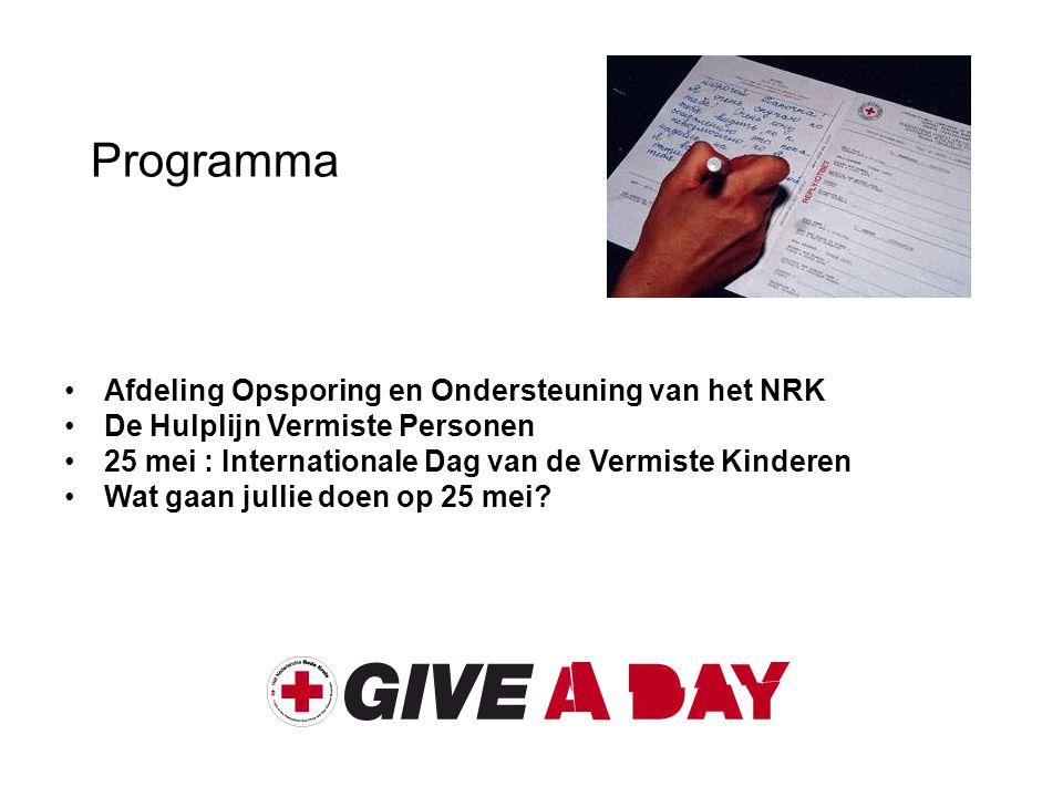 Programma Afdeling Opsporing en Ondersteuning van het NRK