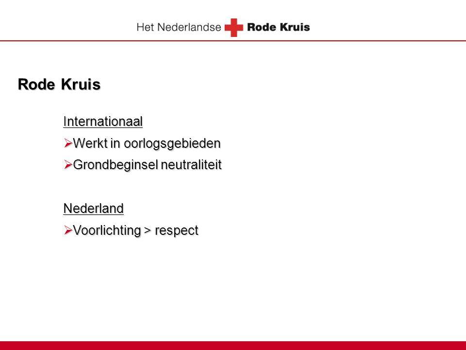 Rode Kruis Internationaal Werkt in oorlogsgebieden