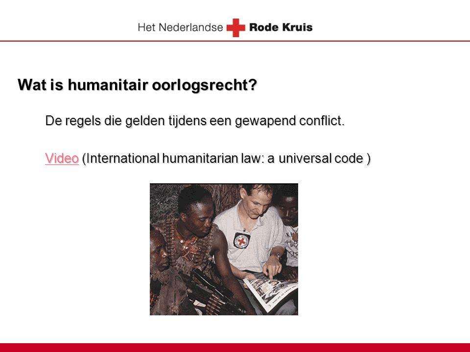 Wat is humanitair oorlogsrecht
