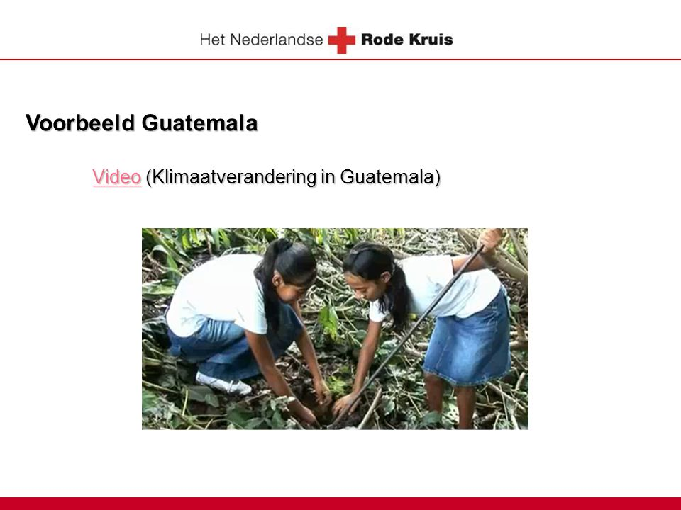 Voorbeeld Guatemala Video (Klimaatverandering in Guatemala)