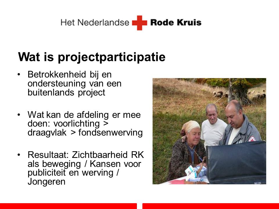 Wat is projectparticipatie