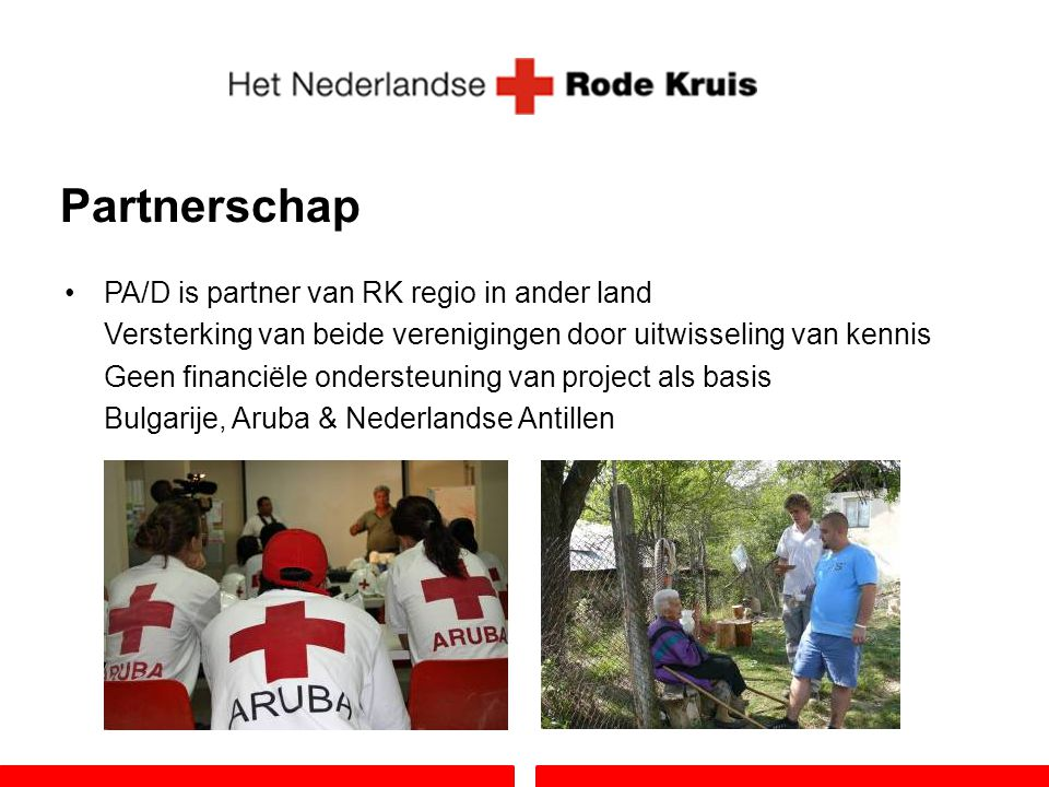 Partnerschap PA/D is partner van RK regio in ander land