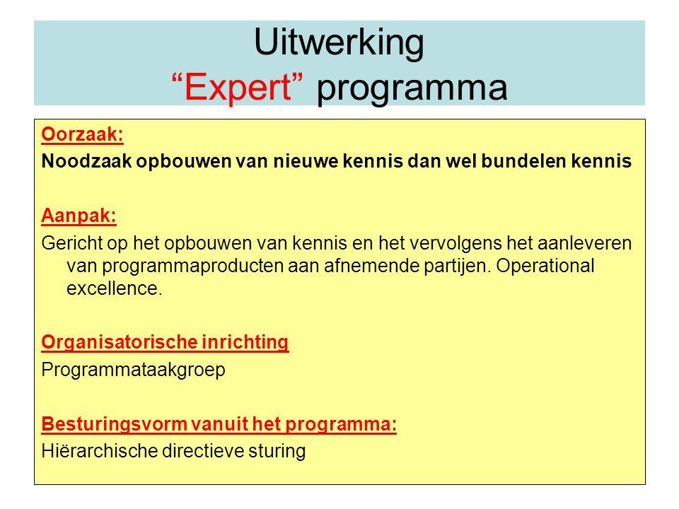 Uitwerking Expert programma