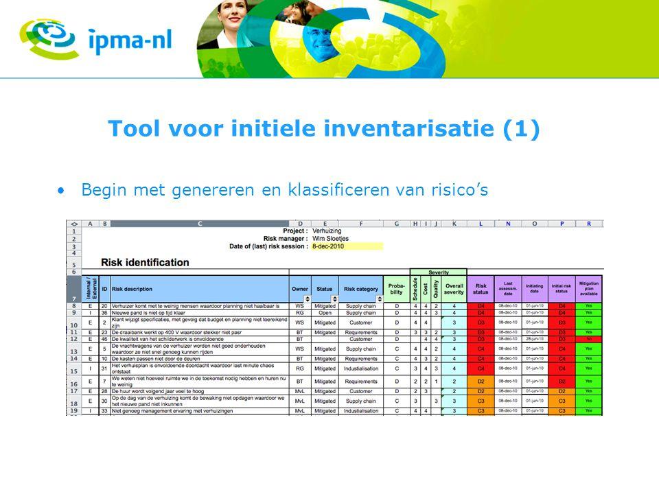 Tool voor initiele inventarisatie (1)