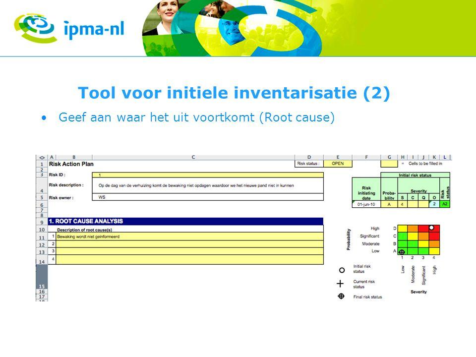 Tool voor initiele inventarisatie (2)