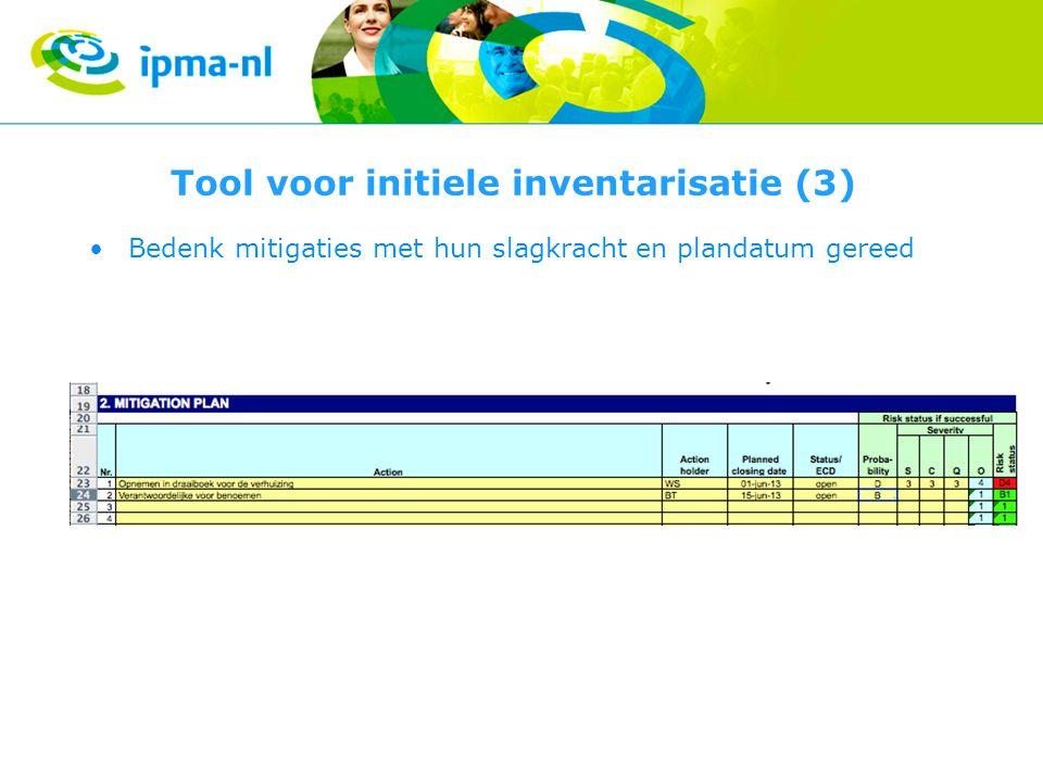 Tool voor initiele inventarisatie (3)