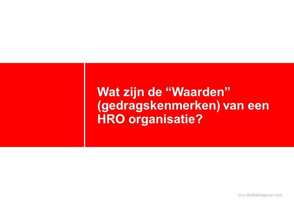 Kenmerken van een High Reliability Organisation