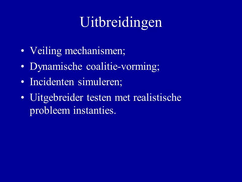 Uitbreidingen Veiling mechanismen; Dynamische coalitie-vorming;