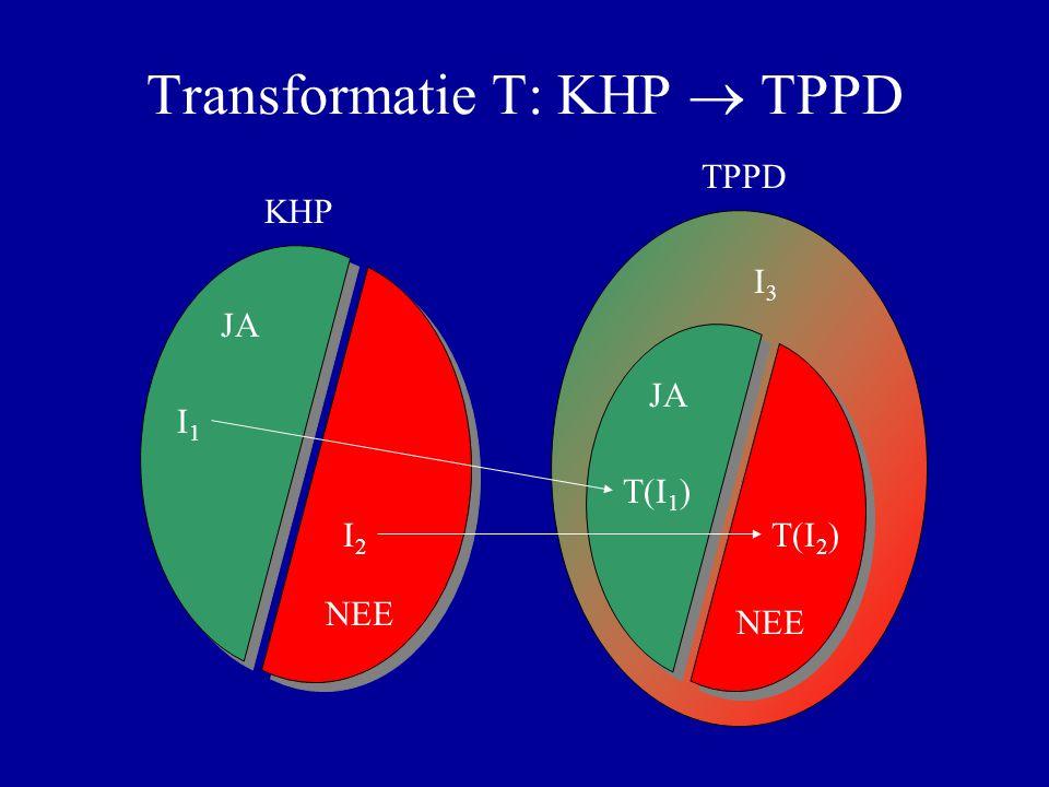 Transformatie T: KHP  TPPD