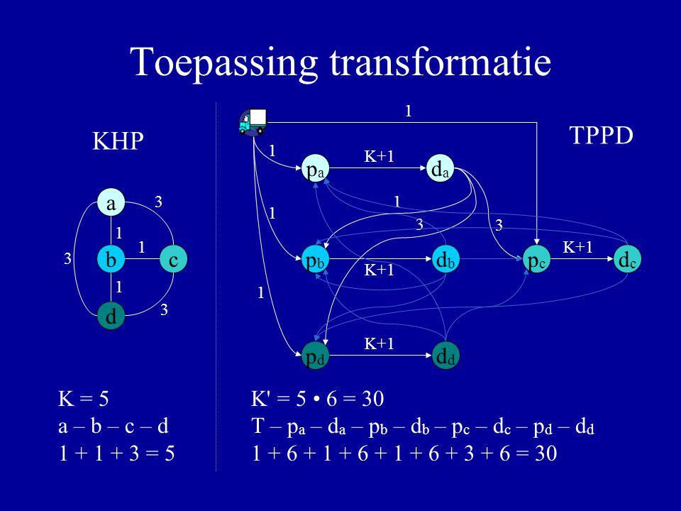 Toepassing transformatie