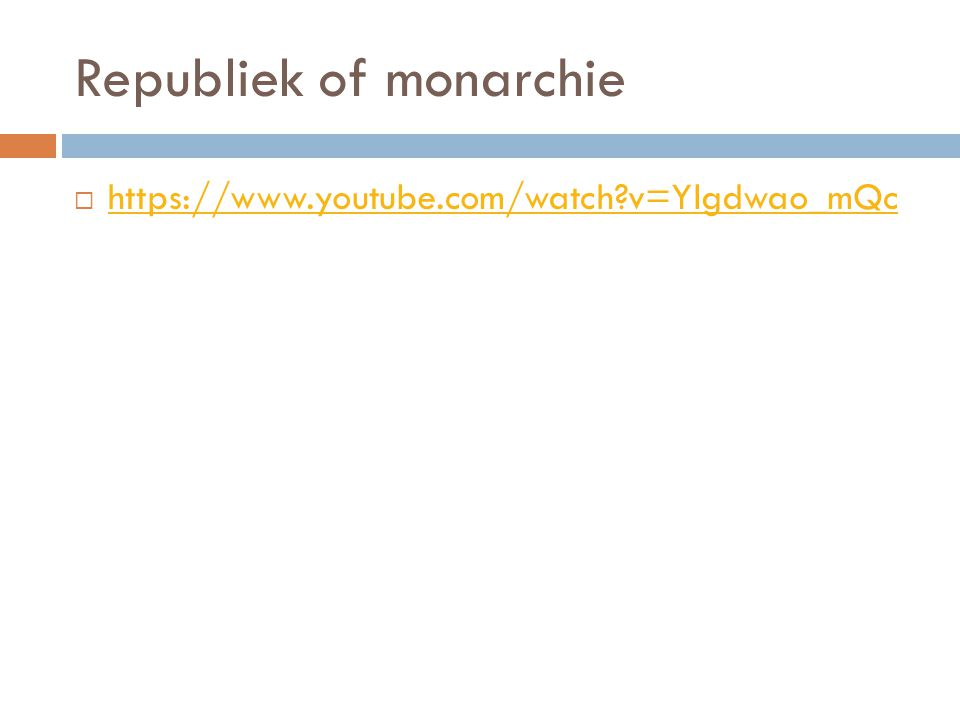 Republiek of monarchie