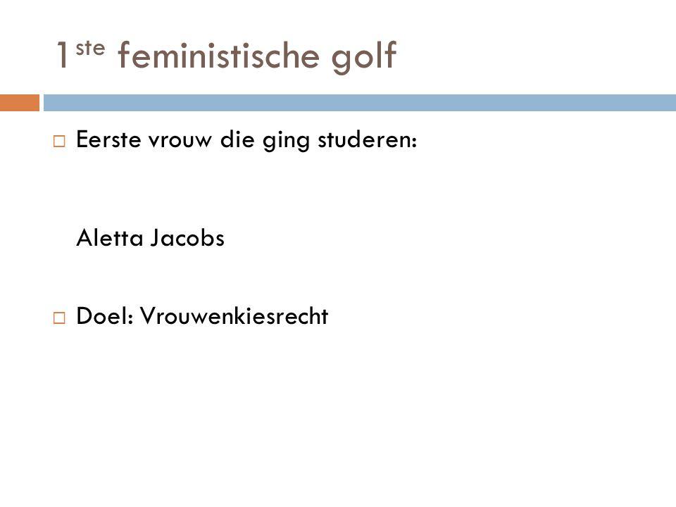 1ste feministische golf