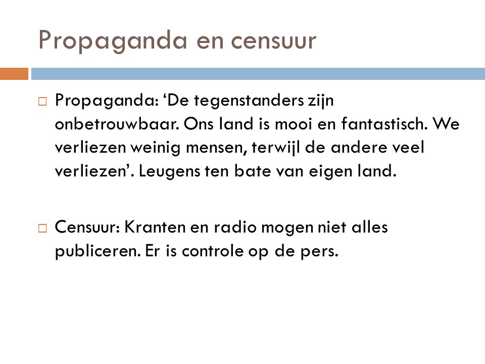 Propaganda en censuur