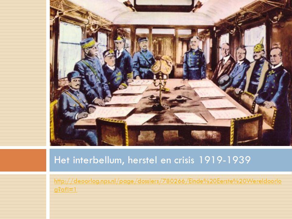 Het interbellum, herstel en crisis 1919-1939