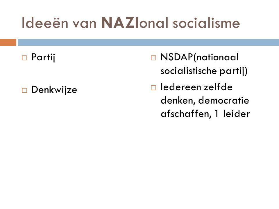 Ideeën van NAZIonal socialisme